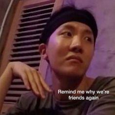𝖗𝖊𝖆𝖈𝖈𝖎𝖔𝖓𝖊𝖘 ㅡ jung hoseok - ÷time for other memes of j-hope÷ Bts Memes Hilarious, Stupid Memes, Funny Relatable Memes, Jung So Min, Bts Meme Faces, Funny Faces, Reaction Face, Bts Reactions, Bts Face