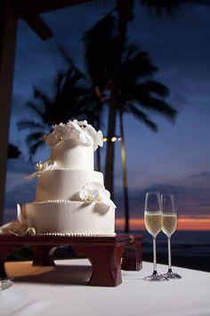 Wedding Cake- Orchids-Four Seasons Hualalai
