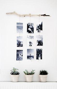 Rincón con fotos para decorar