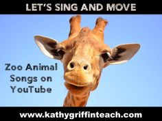 Zoo Animals Songs (Kathy Griffin's Teaching Strategies) Zoo Animals Songs Preschool Zoo Theme, Preschool Music, Kindergarten Music, Preschool Projects, Preschool Age, Preschool Curriculum, Preschool Classroom, Classroom Themes, Preschool Ideas