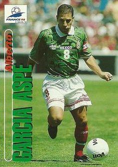 1998 Panini World Cup #55 Alberto Garcia Aspe Front