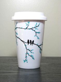 Personalized Travel Coffee Mug You choose the by PrettyMyDrink