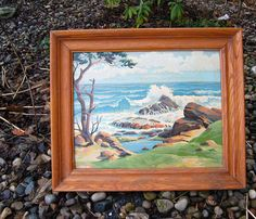 Vintage Paint By Number Land and Sea by CheekyVintageCloset, $64.00