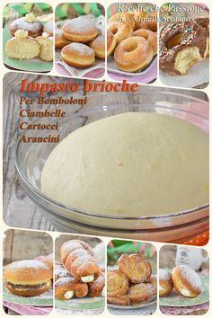 Impasto brioche per dolci di Carnevale - Bomboloni Ciambelle - - Italian Cake, Italian Desserts, Just Desserts, Latest Recipe, Beignets, Biscotti, I Foods, Nutella, Donuts