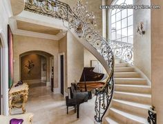 Luxury home with beautiful staircase in Charlotte, NC