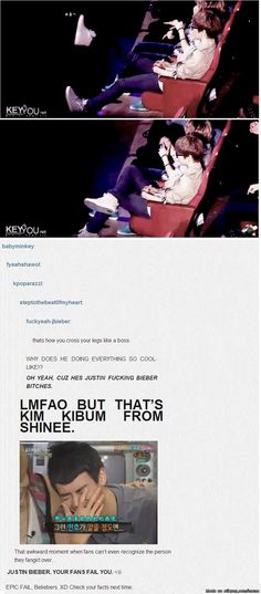 That moment when beliebers thought Key was Justin XD  Minho's face tho ~~ kills me everytime!