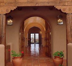 Hacienda del Cerezo in Santa Fe. Hacienda Homes, Hacienda Style, Spanish Style Homes, Spanish House, Spanish Colonial, Spanish Revival, Southwestern Home, Southwest Style, Southwest Decor Santa Fe
