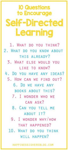 Why you don't have to have all the answers to be able to educate your kids! Plus, 10 questions to encourage self-directed learning.