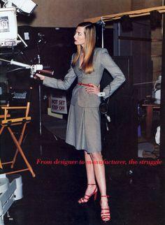 Will the Suit Always Work? I US Vogue I February 1995 I Models: Kate Moss, Tatjana Patitz I Photographer: Pamela Hanson I Editor: Brana Wolf.