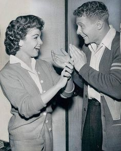 the type of clothes we wore to school...(Annette Funicello and Richard Tyle)