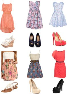 """spring dresses"" by luvfashion98 on Polyvore"