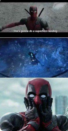 Bad super hero landing