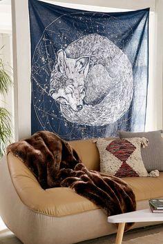 Sleeping Wolf Tapestry