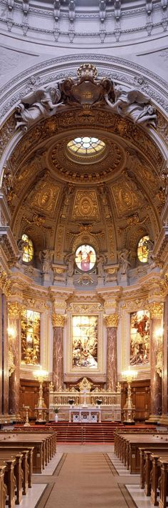 Interior of the Berliner Dom ( Berlin Cathedral) Berlin | Germany