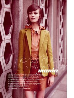 visual optimism; fashion editorials, shows, campaigns & more!: retro mania: marta dyks by paul farrell for elle poland november 2014
