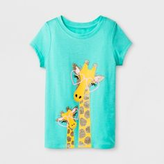 Find product information, ratings and reviews for Toddler Girls' Giraffe Short Sleeve T-Shirt - Cat & Jack™ Green online on Target.com.