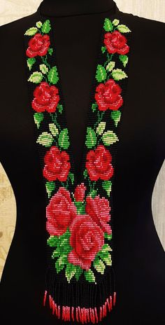 Your place to buy and sell all things handmade - - Bead Embroidery Jewelry, Beaded Jewelry Patterns, Beaded Embroidery, Beading Patterns, Embroidery Patterns, Seed Bead Flowers, Beaded Flowers, Handmade Necklaces, Handmade Jewelry