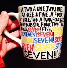 F•R•I•E•N•D•S -seven- SEVEN- MUG- friends- friends tv show- rachel| ross| monica|chandler| phoebe| joey