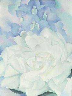 Hand painted reproduction of the painting White Rose with Larkspur No 2 1927 by Georgia O Keeffe. Commission your beautiful hand painted reproduction of White Rose with Larkspur No 2 Georgia O'keeffe, Savannah Georgia, O Keeffe Paintings, Kunsthistorisches Museum, New York Art, Arte Floral, Art Graphique, Museum Of Fine Arts, Art Museum