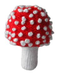 knitted Toadstool ~ Free Pattern