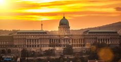 Royal Palace in sunset, Budapest