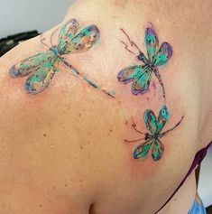 Jemka watercolor dragonfly tattoo