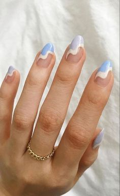Simple Acrylic Nails, Best Acrylic Nails, Simple Nails, Summer Acrylic Nails, Easy Nail Art, Nails Ideias, Gel Nails, Manicure, Coffin Nails