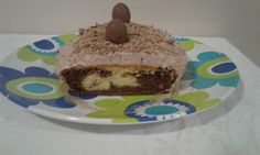 Vanilla and choclate marble cake