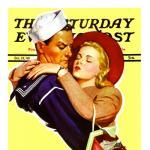 Woman Kissing Soldier Goodbye by JC Leyenedecker | The Saturday Evening Post