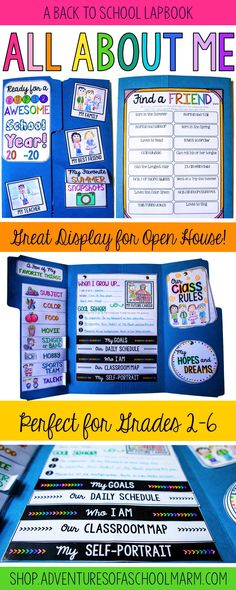 A perfect hands-on activity for the beginning of the school year! Lap book…