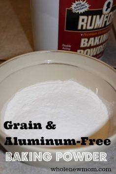 Avoiding corn and grains? This Grain, Corn, and Aluminum-Free Baking Powder is just the think for those on special diets who still love to bake!