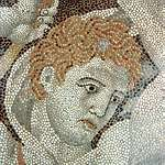detail of the Stag Hunt mosaic at Pella