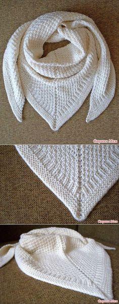 Шаль-платок теплый и очень зимний - Вязание - Страна Мам