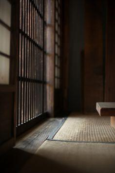 Shoji screen. Tatami mat