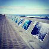 """@Layar Certified Partner @diginarrative added Augmented Reality to the outdoor exhibition """"Sea-Change"""", currently on display till April 2015 at the Sea Point Promenade, Cape Town, South Africa.    The Sea-Change Exhibition is a multi-media project that tells the story of the birth of humanity, and the ancient relationship we all have with the sea. A selection of these large photo panels are transformed into perfect HD videos using the free @LAYAR app."""