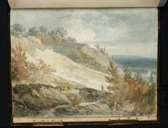 Joseph Mallord William Turner, 'A Figure on a Hillside Path, with a View over a Plain Beyond' (J. Turner: Sketchbooks, Drawings and Watercolours) List Of Paintings, A4 Poster, Poster Prints, Joseph Mallord William Turner, Classic Image, Old Master, Paths, Modern Art, Fine Art