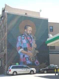 Grover Washington Jr mural on Broad Street in North Philly...I used to see this everyday heading to school