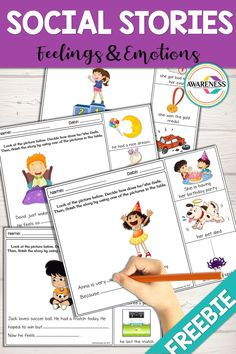 Social Stories: FREE Feelings and Emotions Activities Social Stories: FREE Feelings and Emotions Activities,SLP: Social skills FREE SOCIAL stories to discuss feelings and emotions. These printables can be used for your special education and. Social Stories Autism, Social Emotional Activities, Emotions Activities, Teaching Social Skills, Autism Activities, Speech Therapy Activities, Language Activities, Communication Activities, Communication Boards
