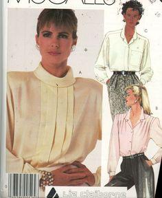 Misses Liz Claiborne Blouse Pattern McCalls 2227 Size 16 Uncut - Women