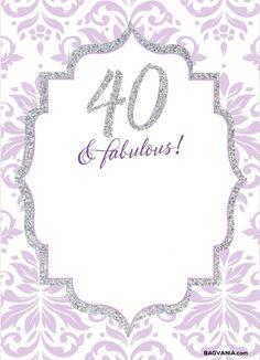 Nice free 18th birthday invitations wording free printable free free printable 40th birthday invitations filmwisefo