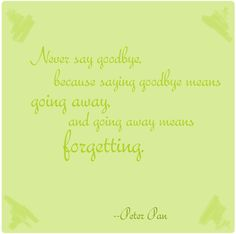 """Peter Pan"" quote"