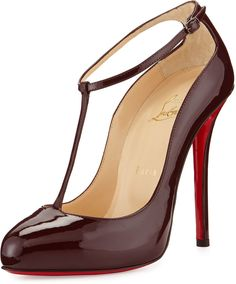 Christian Louboutin Neo Pensee Mary Jane Red Sole Pump, Black on ...