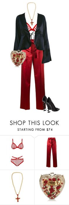 """""""Untitled #542"""" by chanelkillla ❤ liked on Polyvore featuring Helmut Lang, Dolce&Gabbana and Yves Saint Laurent"""