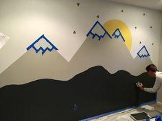 Baby Room Art, Baby Room Decor, Twin Baby Rooms, Mountain Mural, Kids Room Murals, Baby Room Neutral, Baby Room Design, Boys Bedroom Decor, Project Nursery