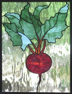 Stained Glass Beet . #etsy