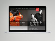 Corporate Wear Website - Preview by Katharina Mauer, via Behance