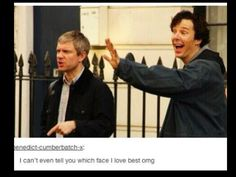 love them! #johnwatson #sherlockholmes #martinfreeman #benedictcumberbatch