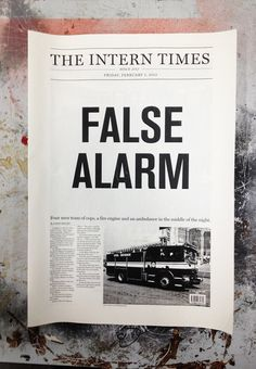 The Intern TImes, Self-Promotion by Farid Balian, via Behance