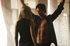 """""""The Murder of One""""--LtoR: Claire Holt as Rebekah and Ian Somerhalder as Damon on THE VAMIPIRE DIARIES on The CW. Photo: Bob Mahoney/The CW ©2012 The CW Network. All Rights Reserved."""