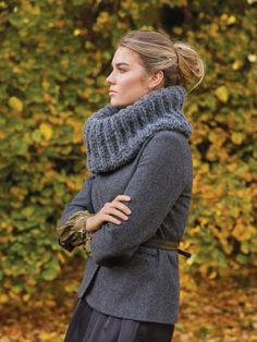 Knitting pattern for Harlow by Kim Hargreaves using Rowan Brushed Fleece. A super cosy, chunky ribbed cowl that. See our great prices and fast service. Winter Accessories, Crochet Accessories, Needles Sizes, Pattern Books, Rowan, Beautiful Patterns, Knitting Needles, Cosy, Knitting Patterns